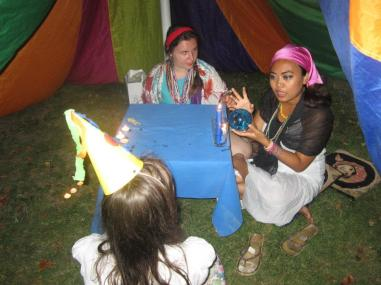 Gypsy fortune telling tent at Happy Faces
