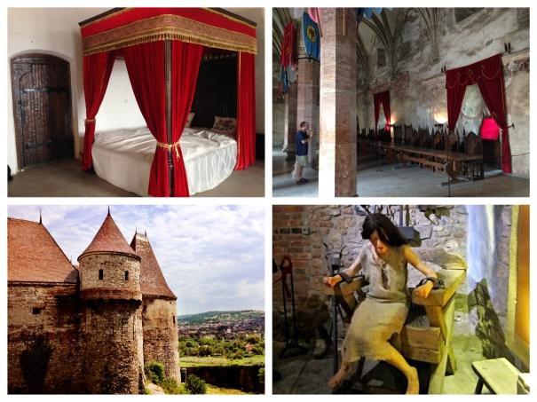 Collage of Corvin Castle Interior