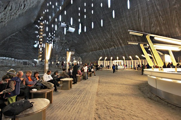 Main cave in Salina Turda Salt Mine