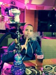 Antony smoking Shisha