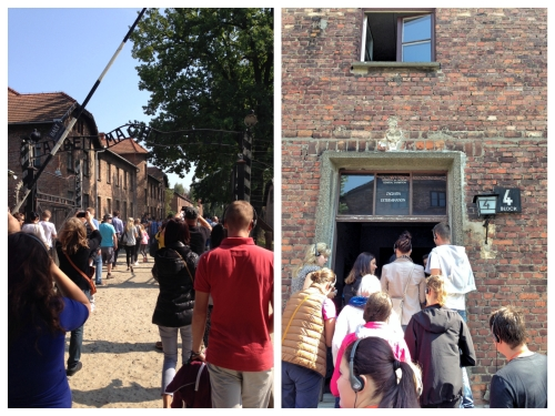 Tourists at Auschwitz