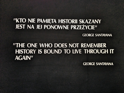 The one who does not remember history is bound to live through it again - George Santayana