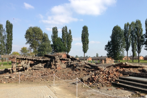 Rubble of Gas Chambers at Auschwitz II-Birkenau