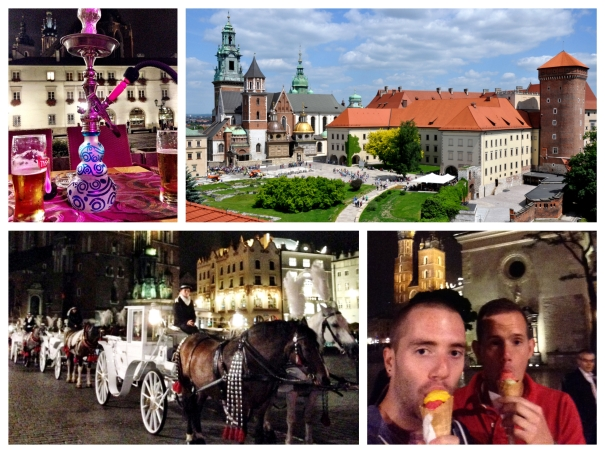 Collage of photos from Krakow