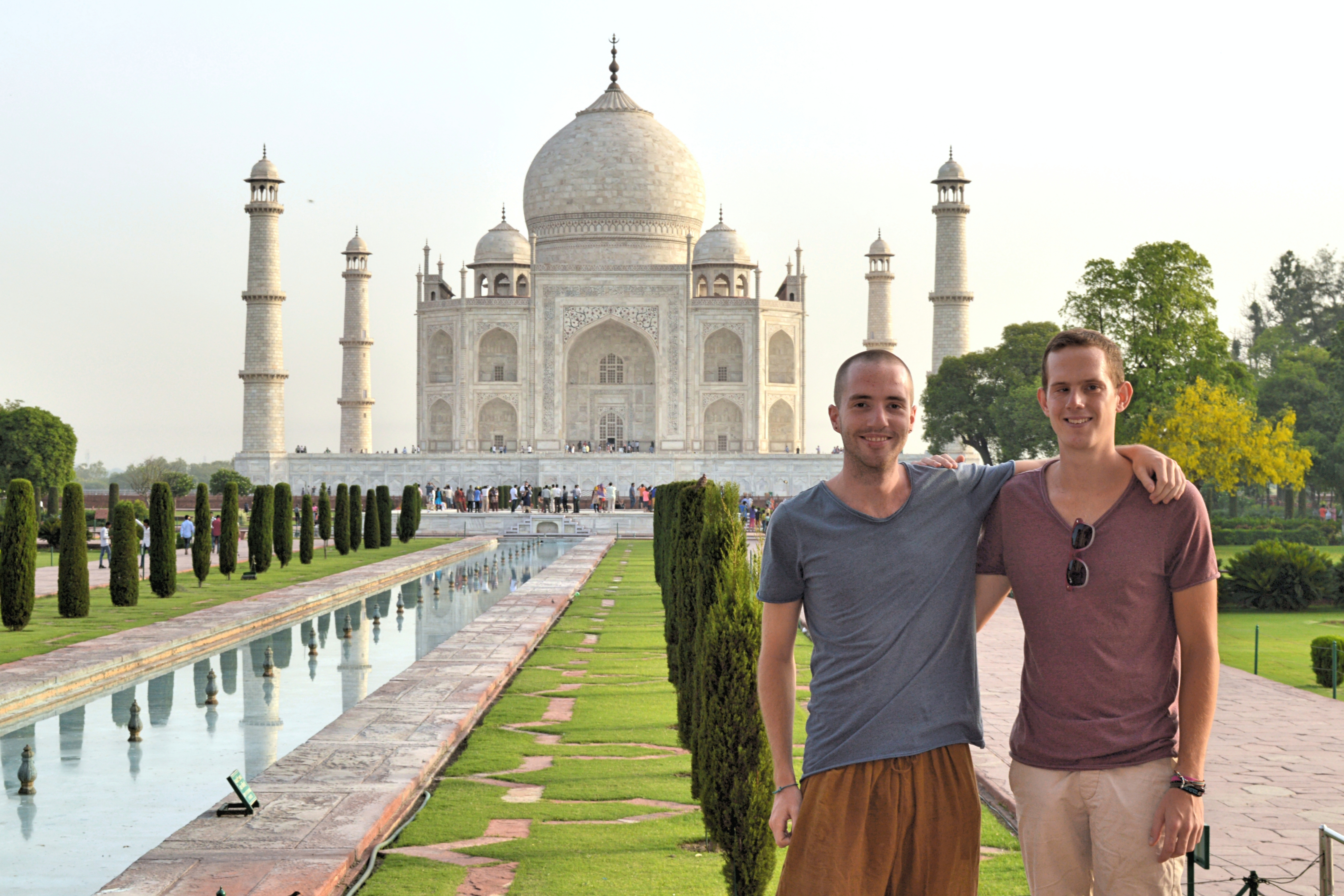 Us in front of the Taj Mahal