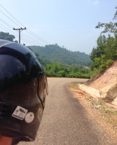 Driving the road to Nam Ngum lake
